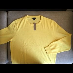 J. Crew Yellow Cashmere Sweater, Brand New, Large